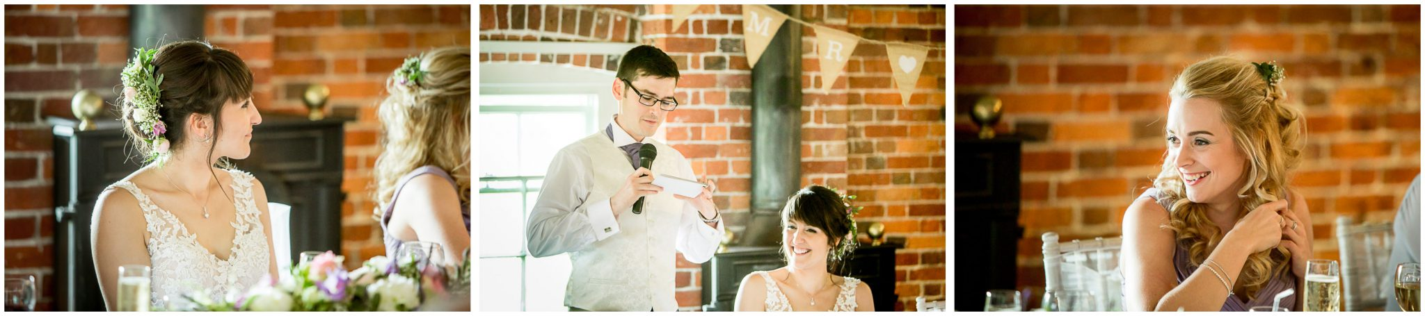 Sopley Mill wedding photography groom's speech