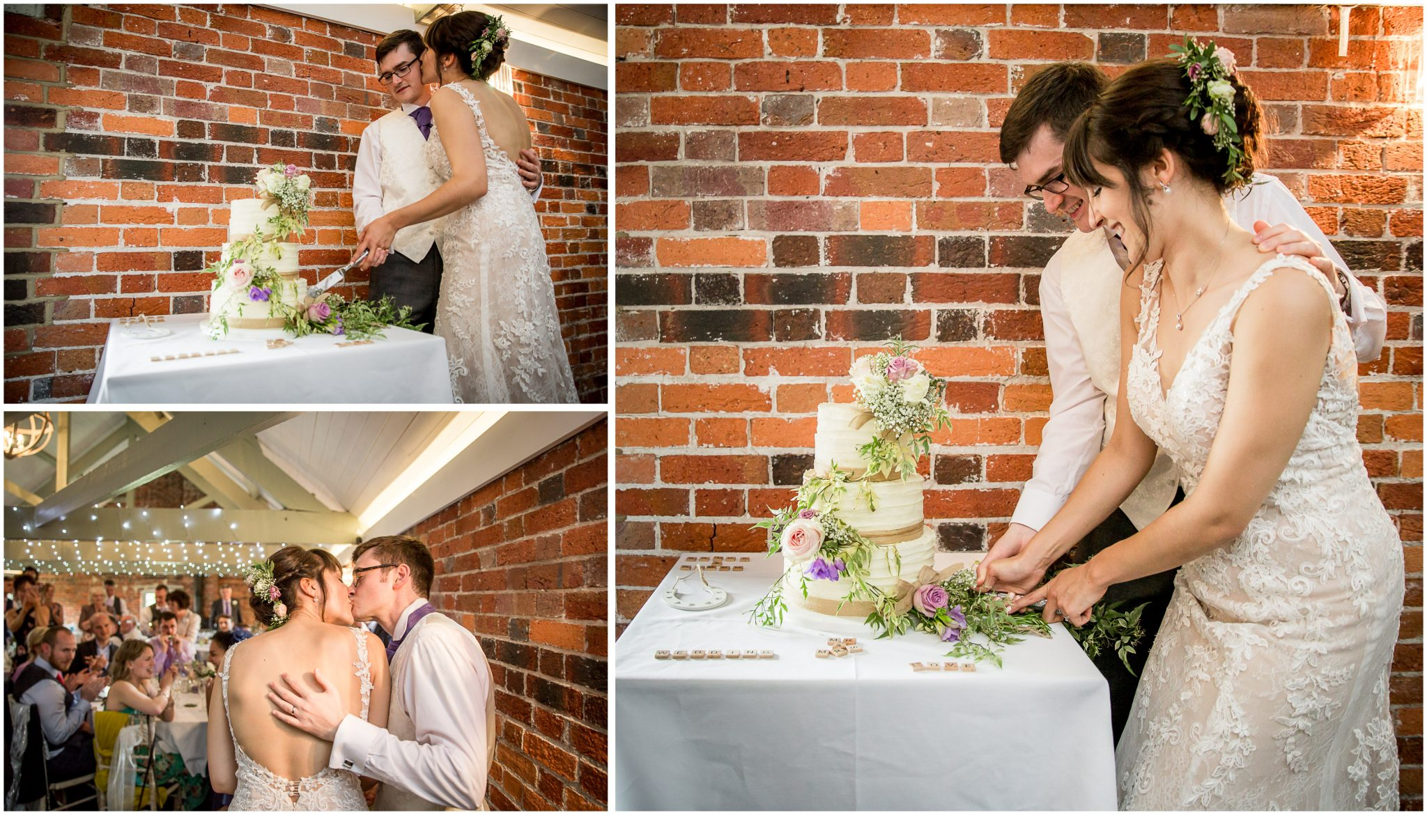 Sopley Mill wedding photography cutting the cake