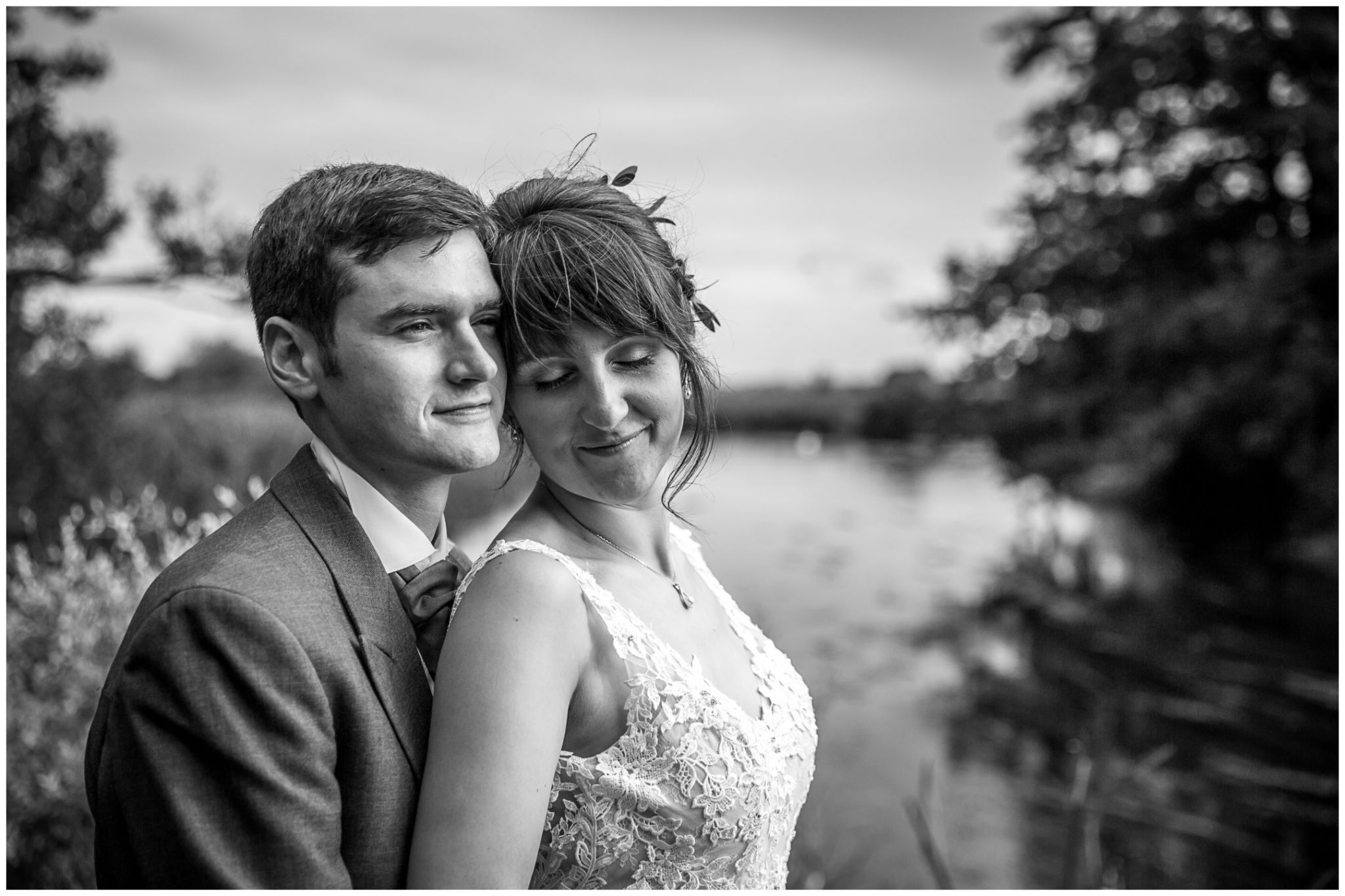 Sopley Mill wedding photography bride and groom portraits black and white