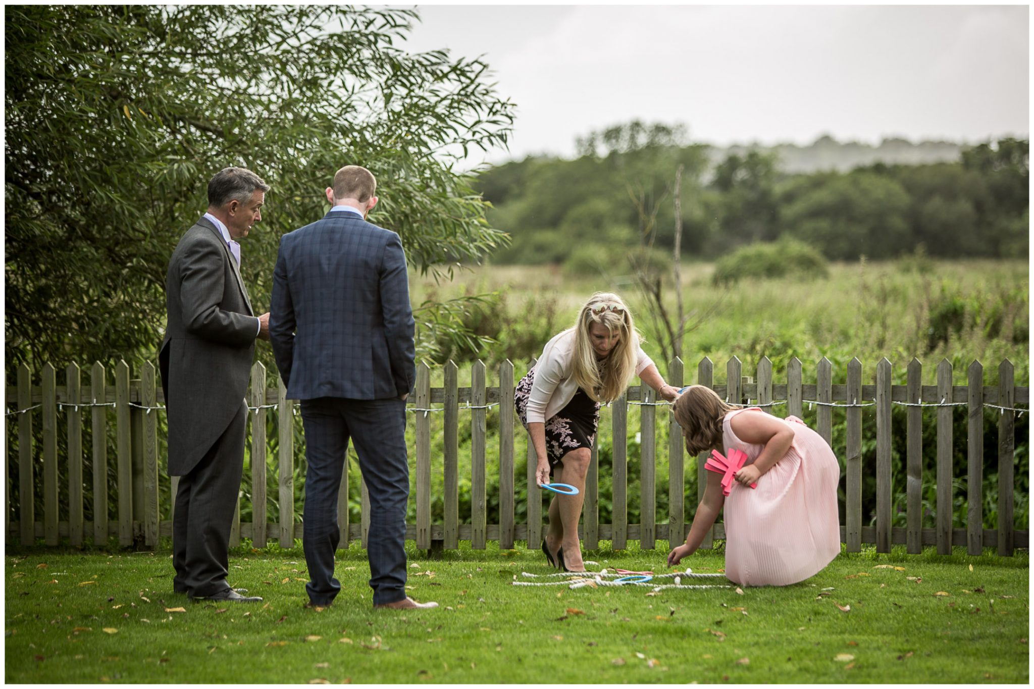 Sopley Mill wedding photography guests play garden games
