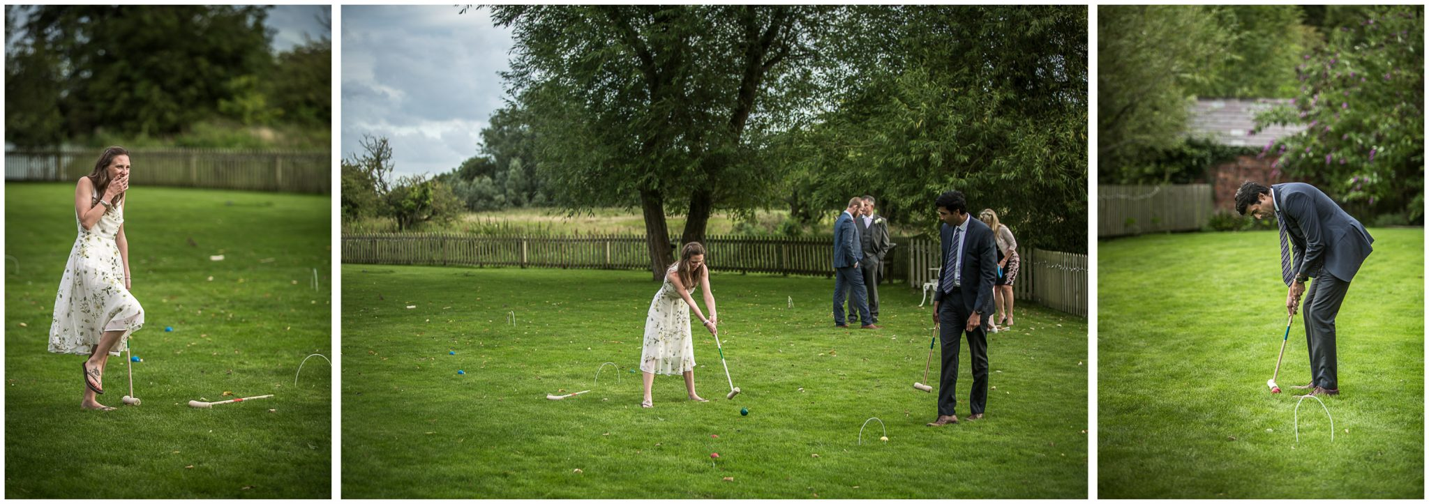 Sopley Mill wedding photography croquet on the lawn