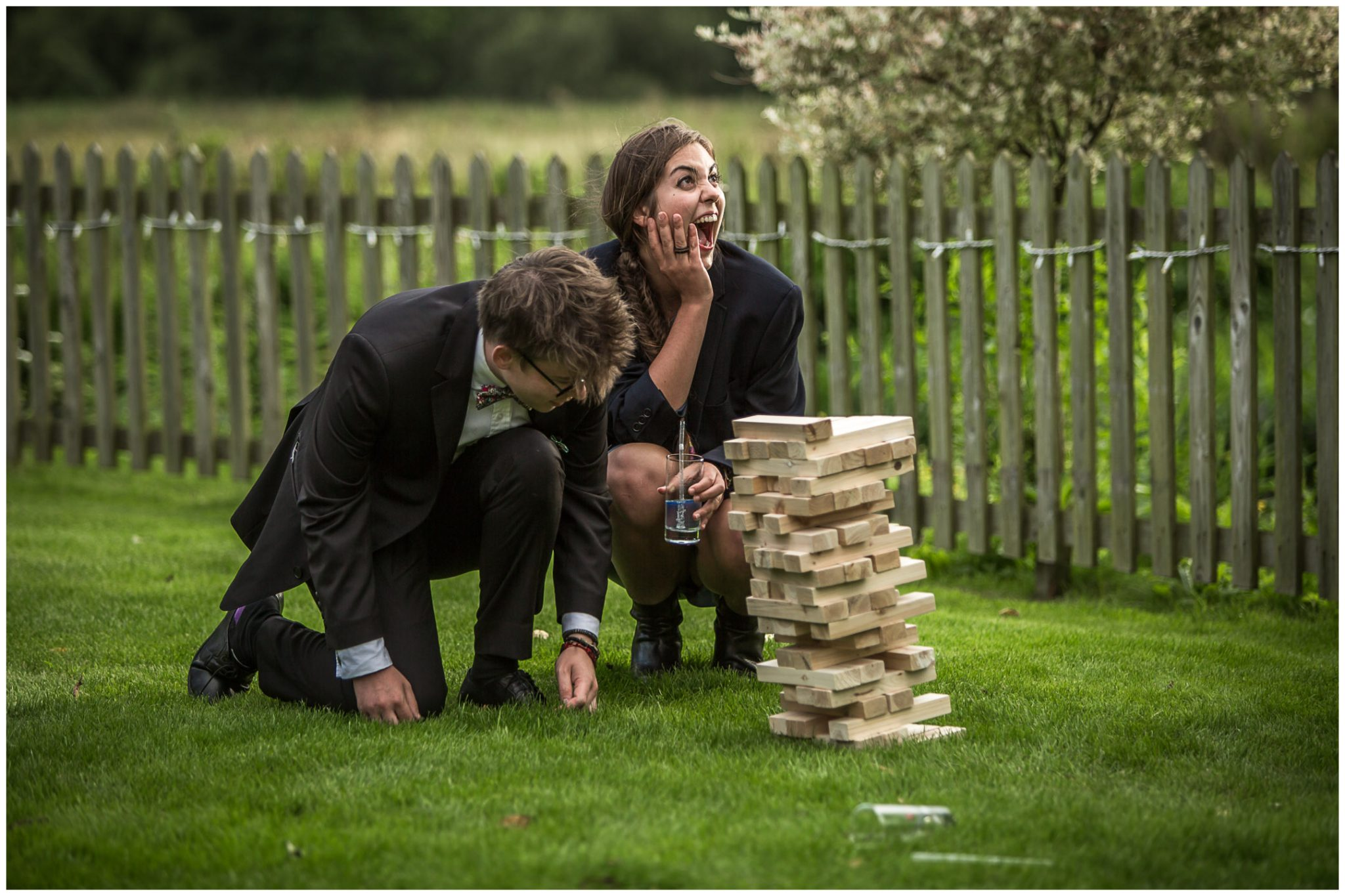 Sopley Mill wedding photography giant jenga