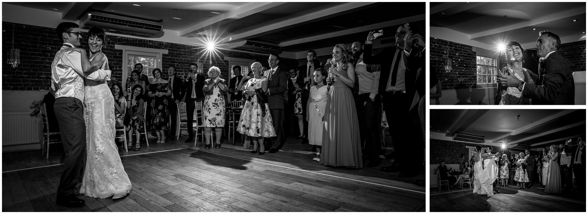 Sopley Mill wedding photography black and white dance photos