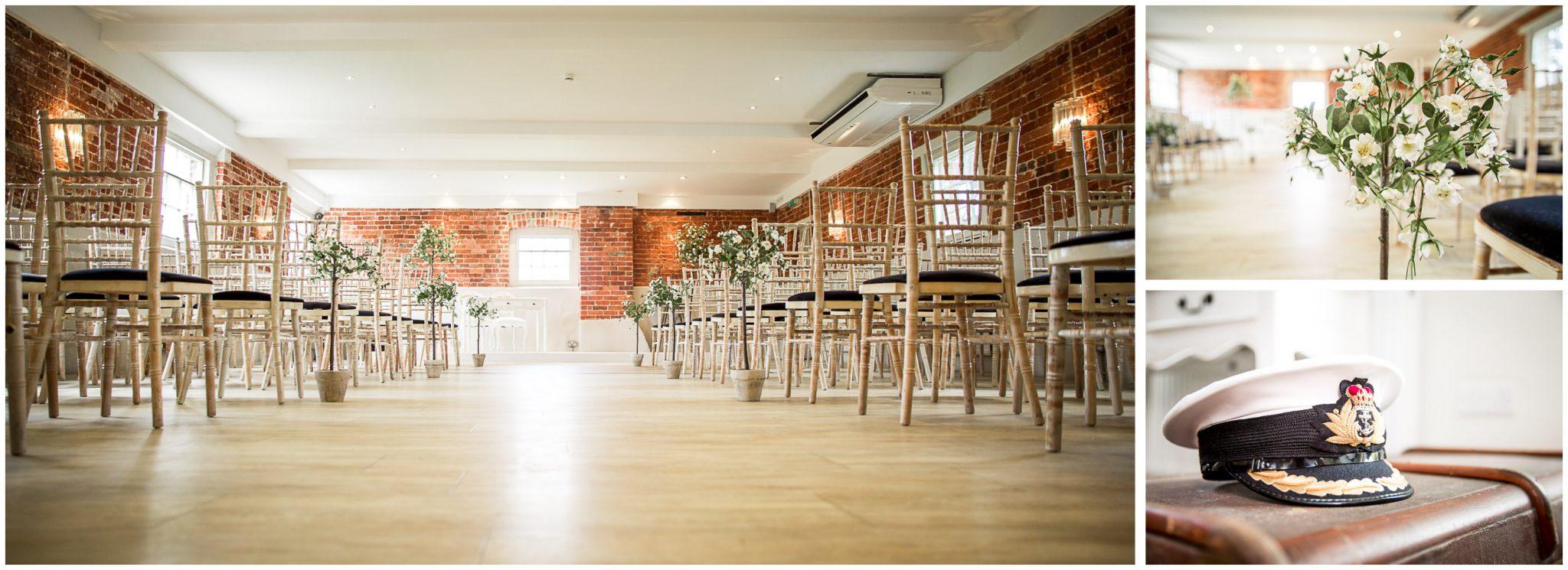 Sopley wedding photographer ceremony room