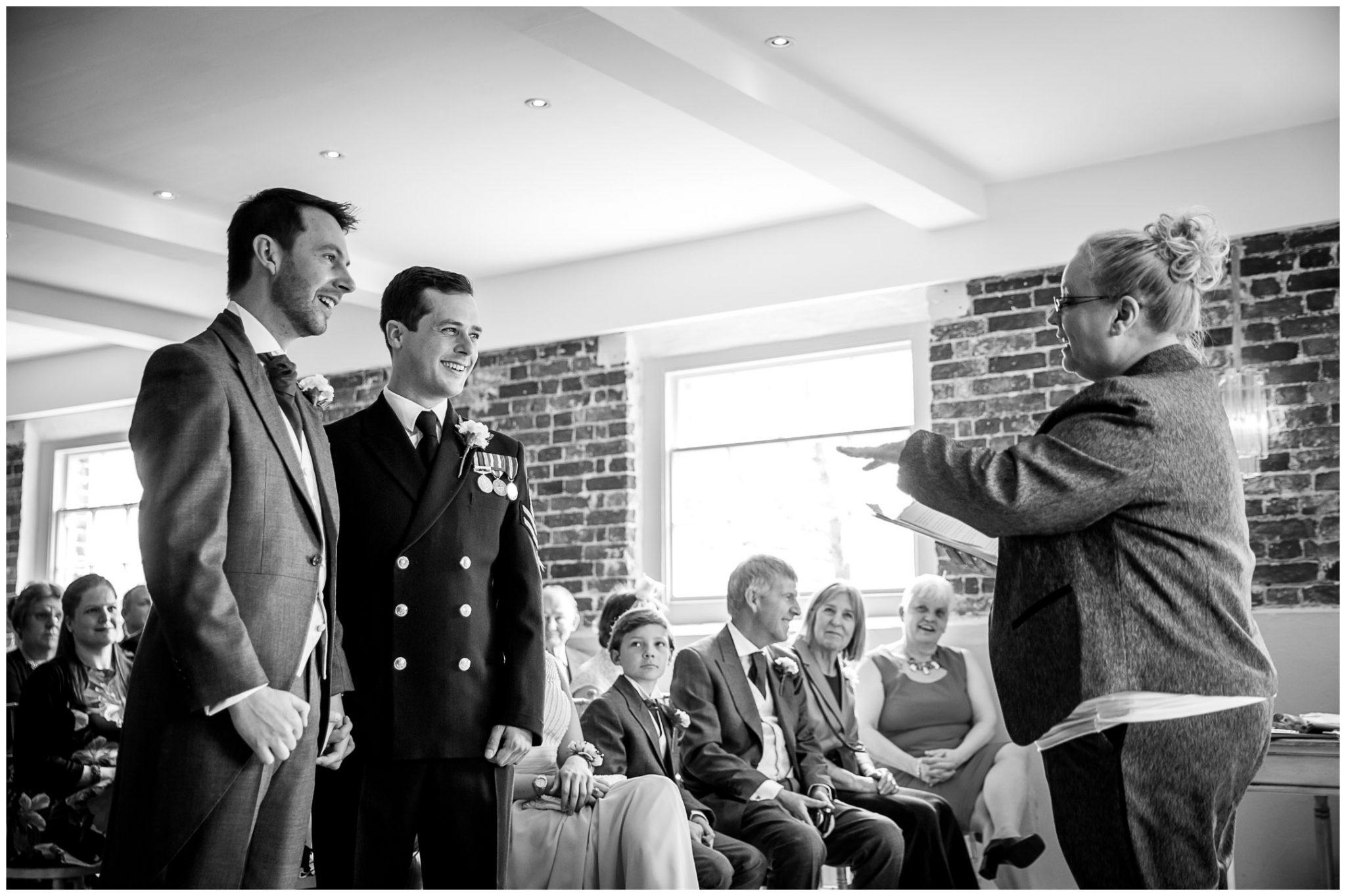 Sopley wedding photographer registrar leads ceremony