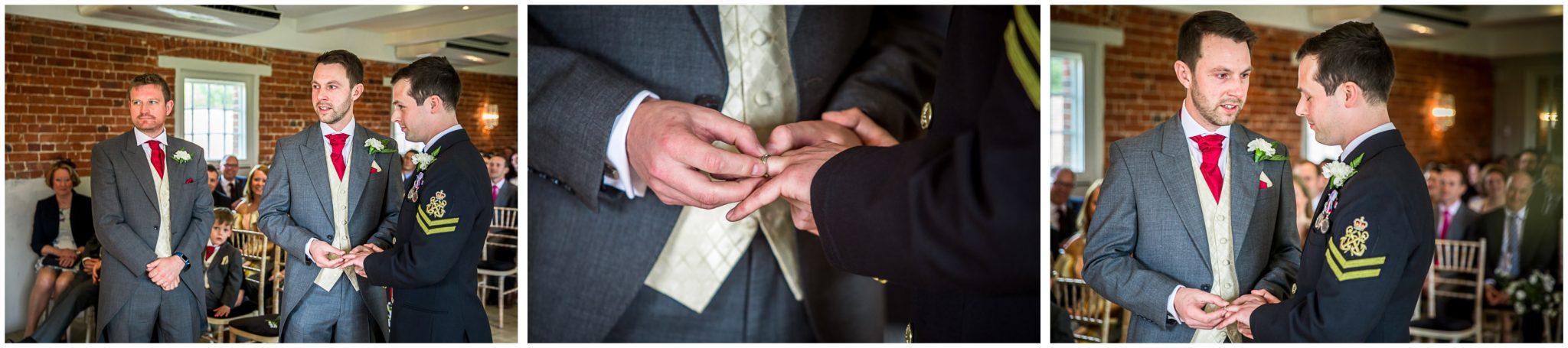 Sopley wedding photographer exchange of rings