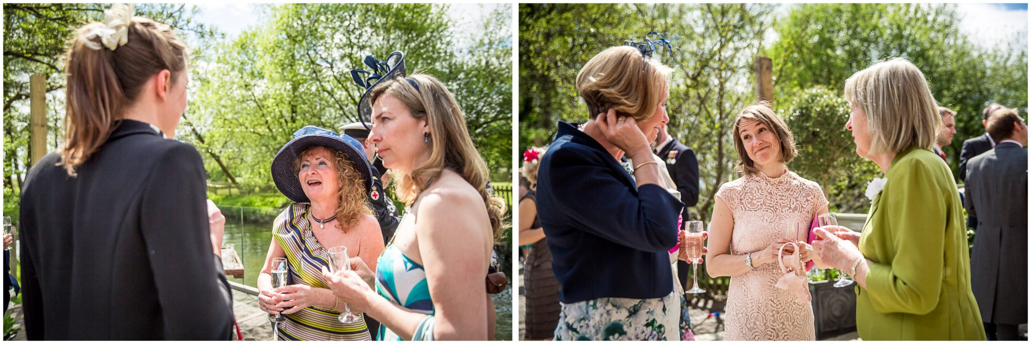Sopley wedding photographer candid photos of guests outdoors