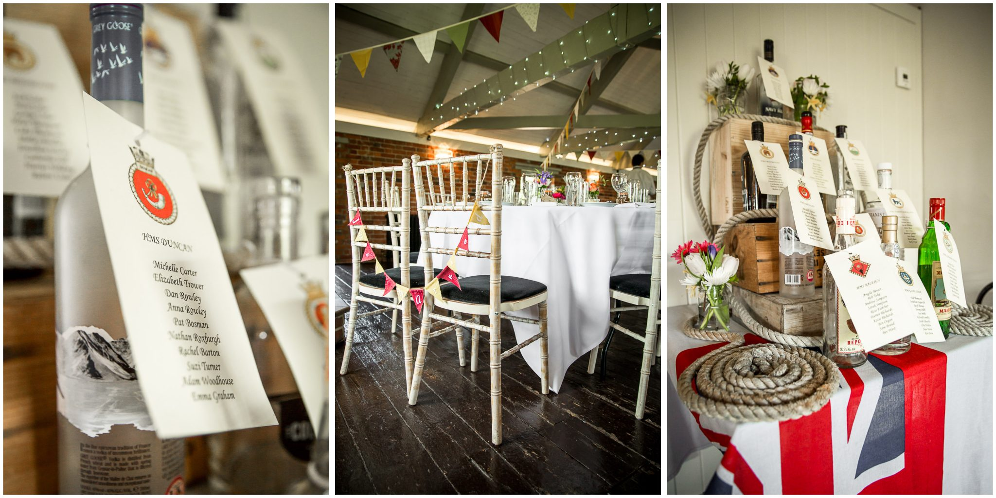 Sopley wedding photographer table names