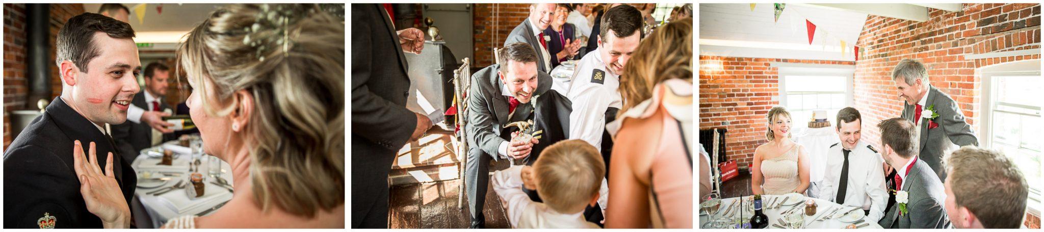 Sopley wedding photographer dining room