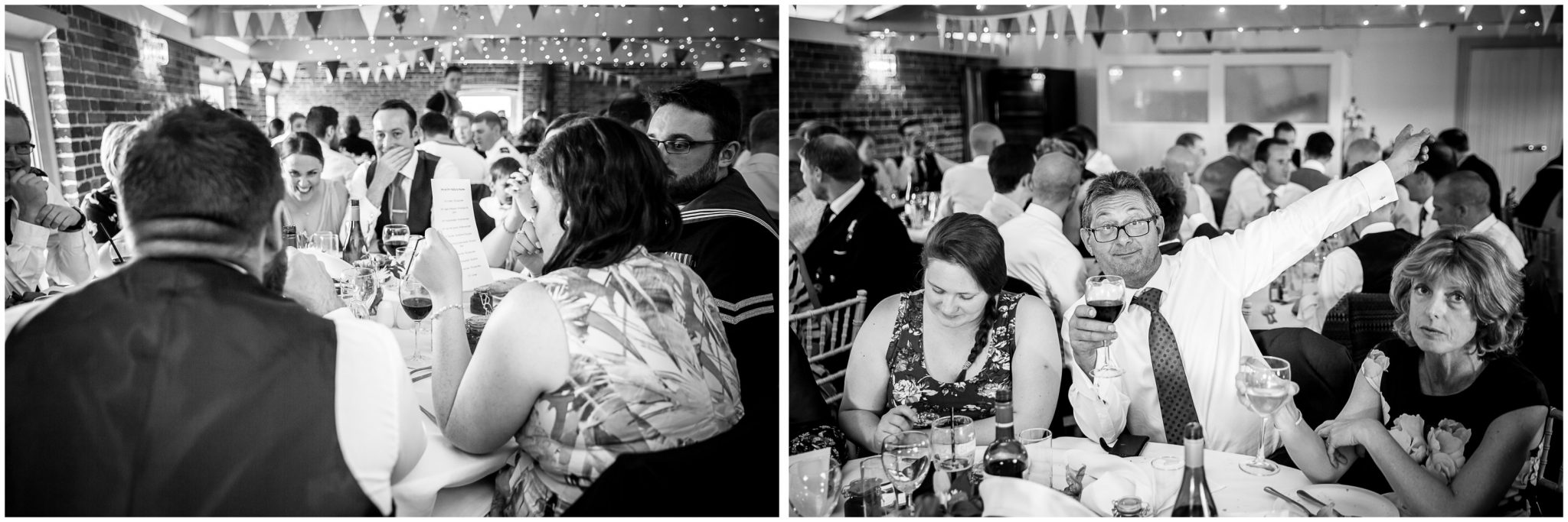 Sopley wedding photographer black and white guest candids