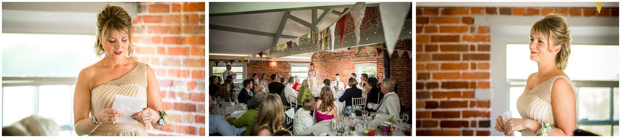 Sopley wedding photographer berst friend gives speech