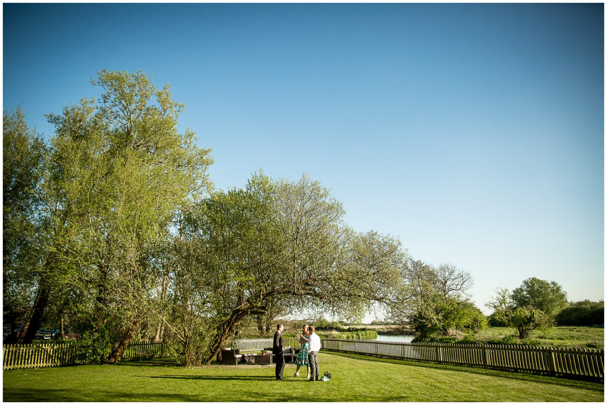 Sopley wedding photographer gardens with river view