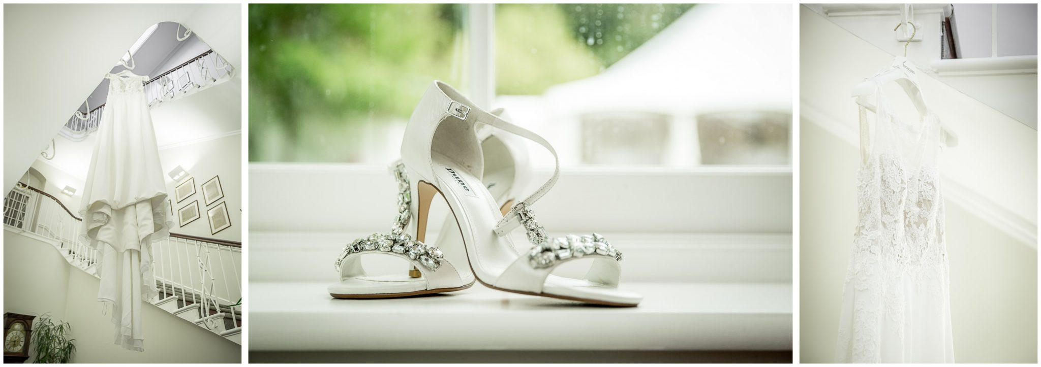 winchester cathedral wedding photography shoe and dress details