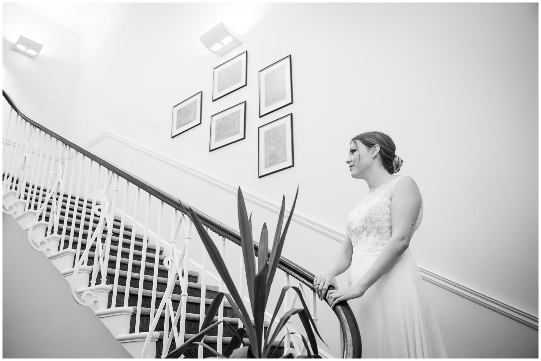 winchester cathedral wedding photography bride waits for father