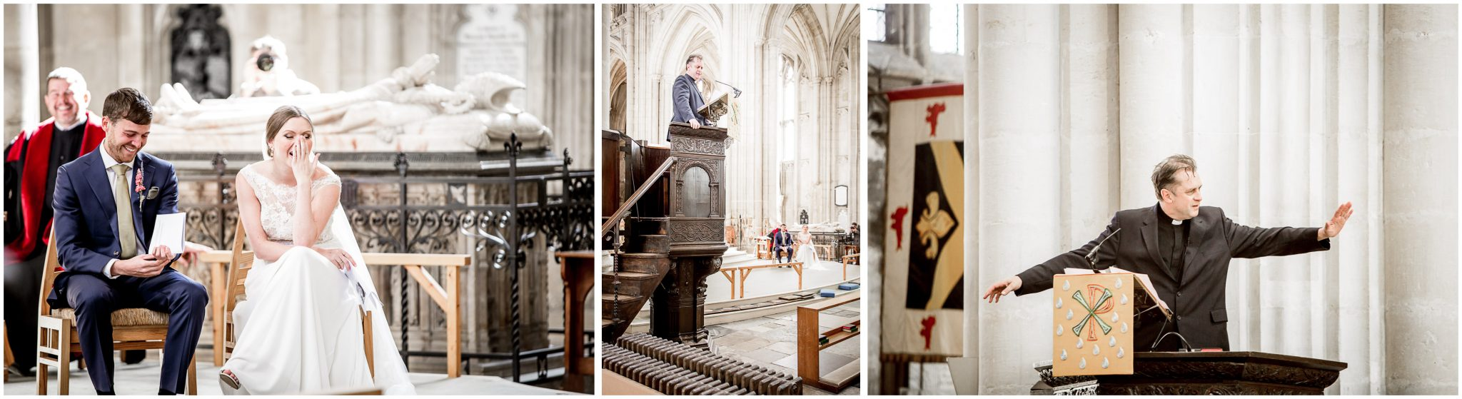 winchester cathedral wedding photography ceremony