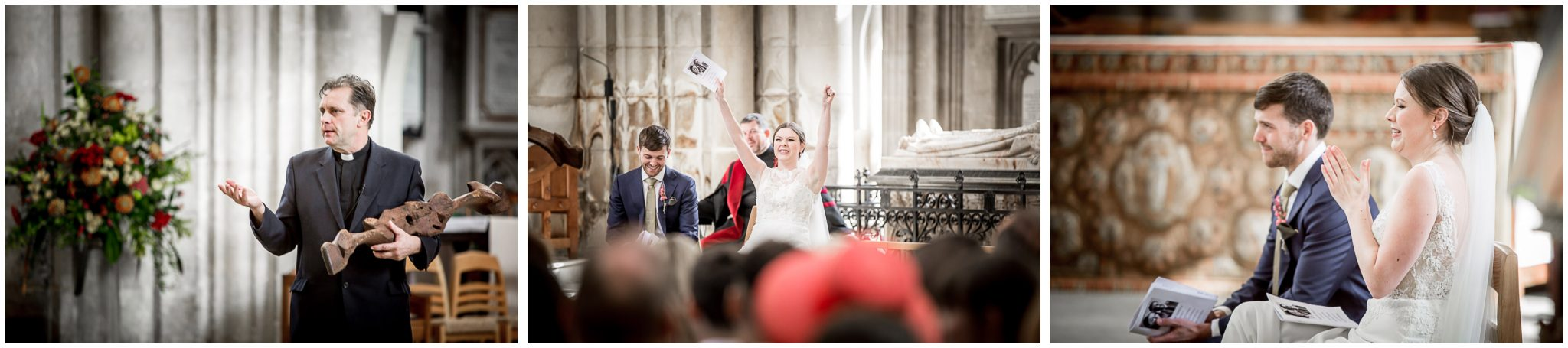 winchester cathedral wedding photography couple during service