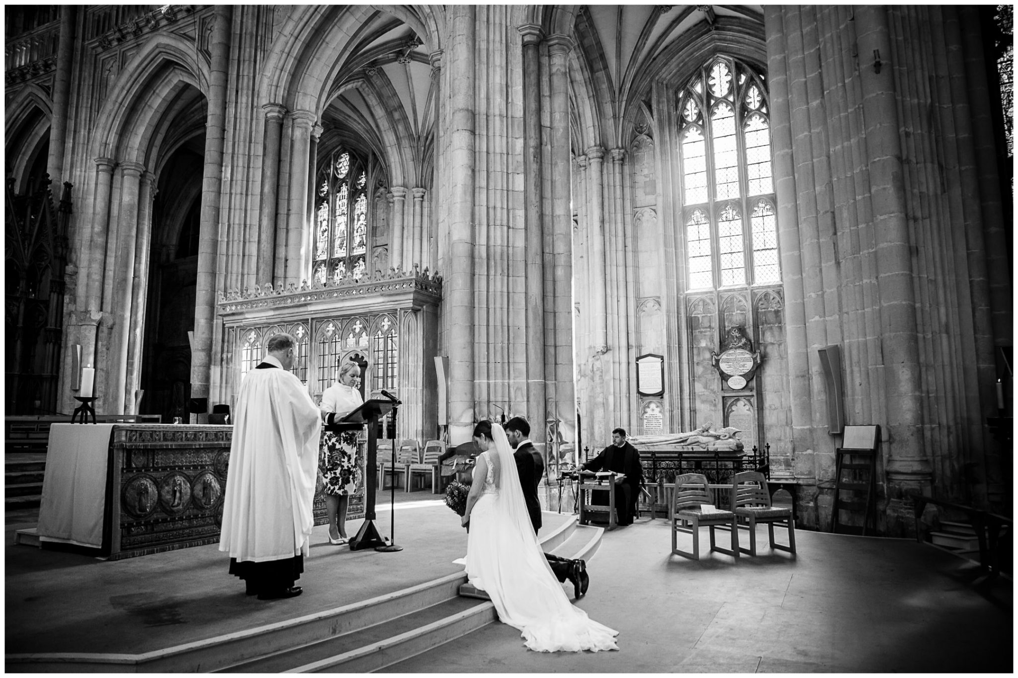 winchester cathedral wedding photography final blessing of the couple