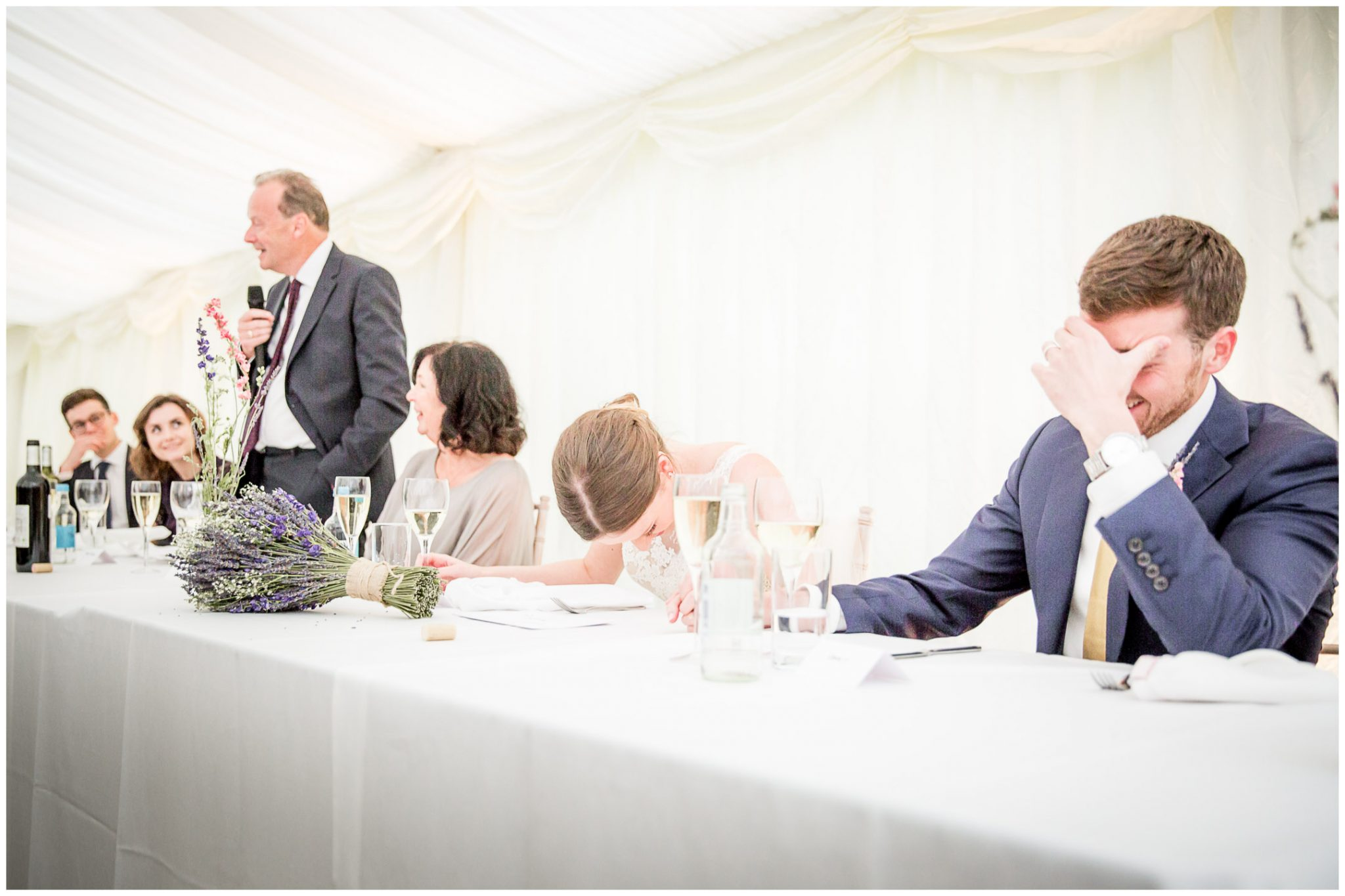 Old Alresford Place wedding photography groom during speeches