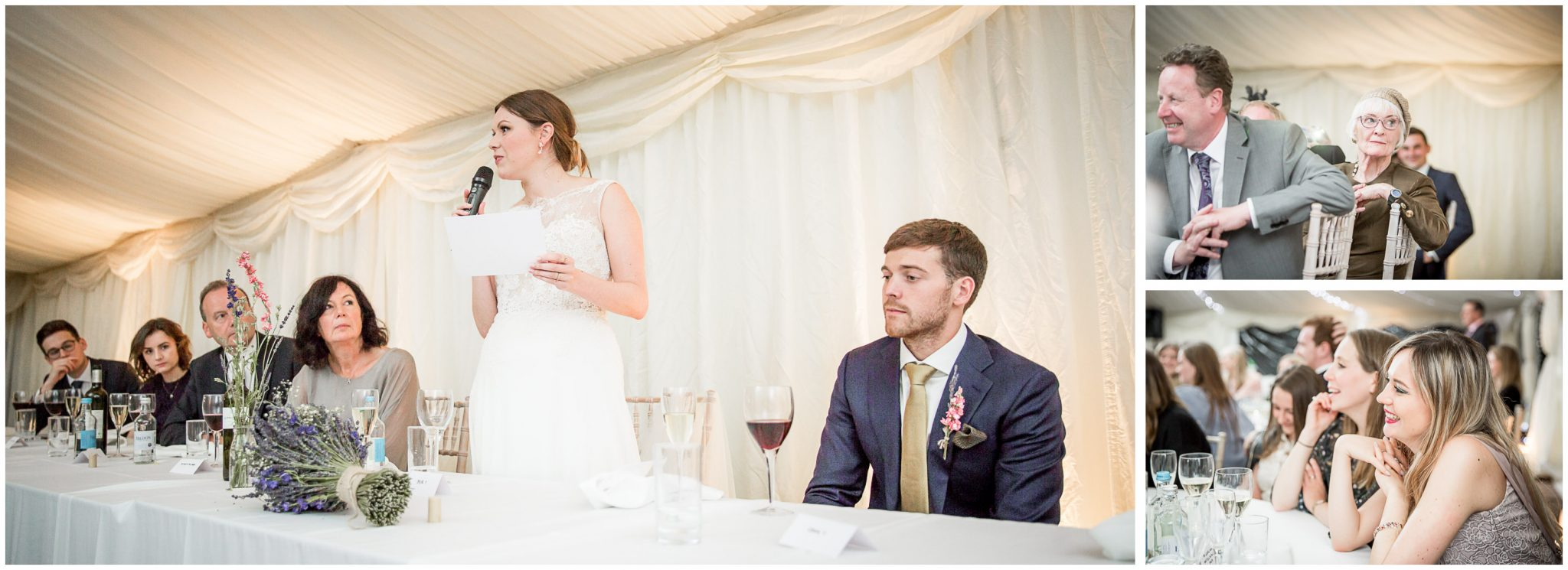 Old Alresford Place wedding photography bride gives speech