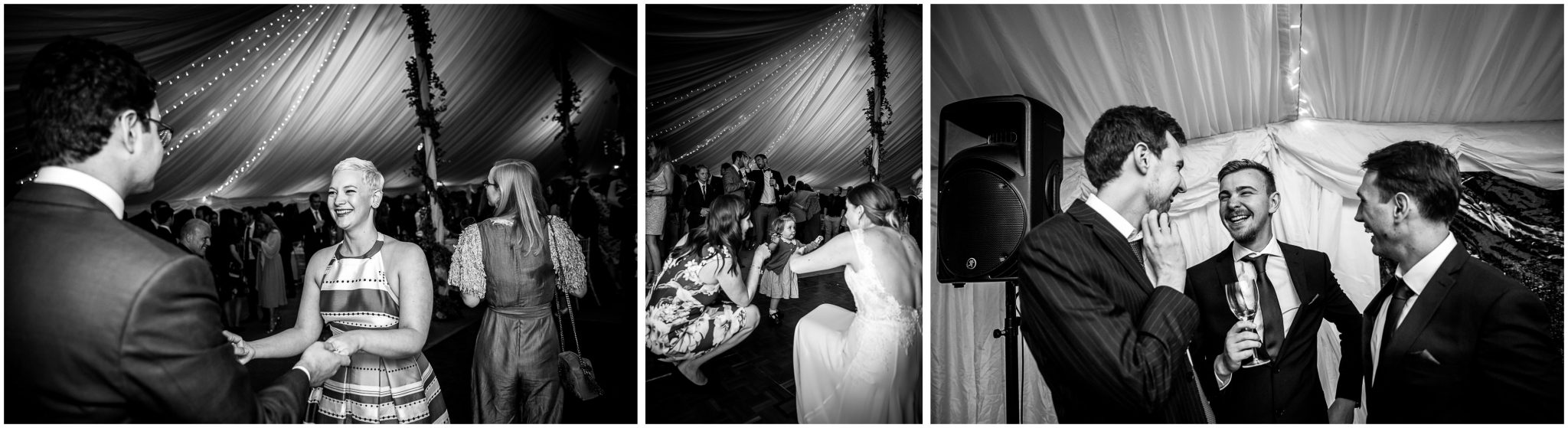 Old Alresford Place wedding photography evening party