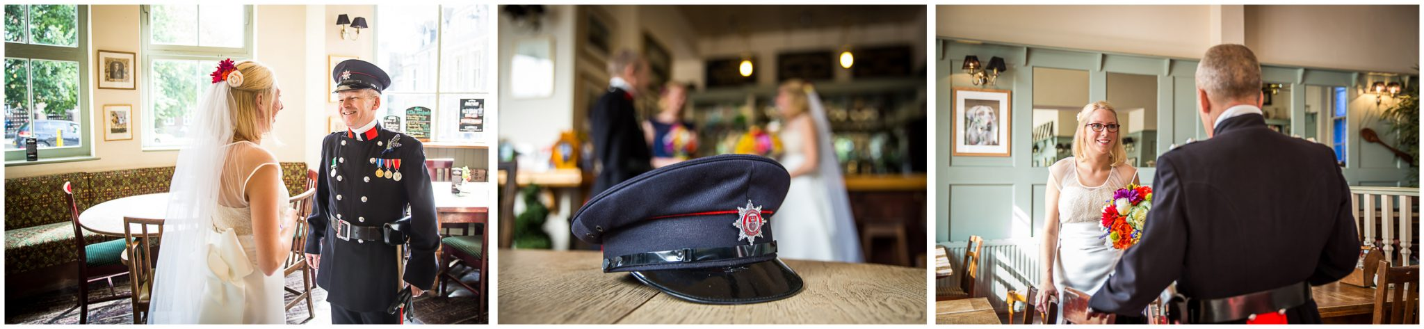 Winchester Great Hall wedding photography bride and father
