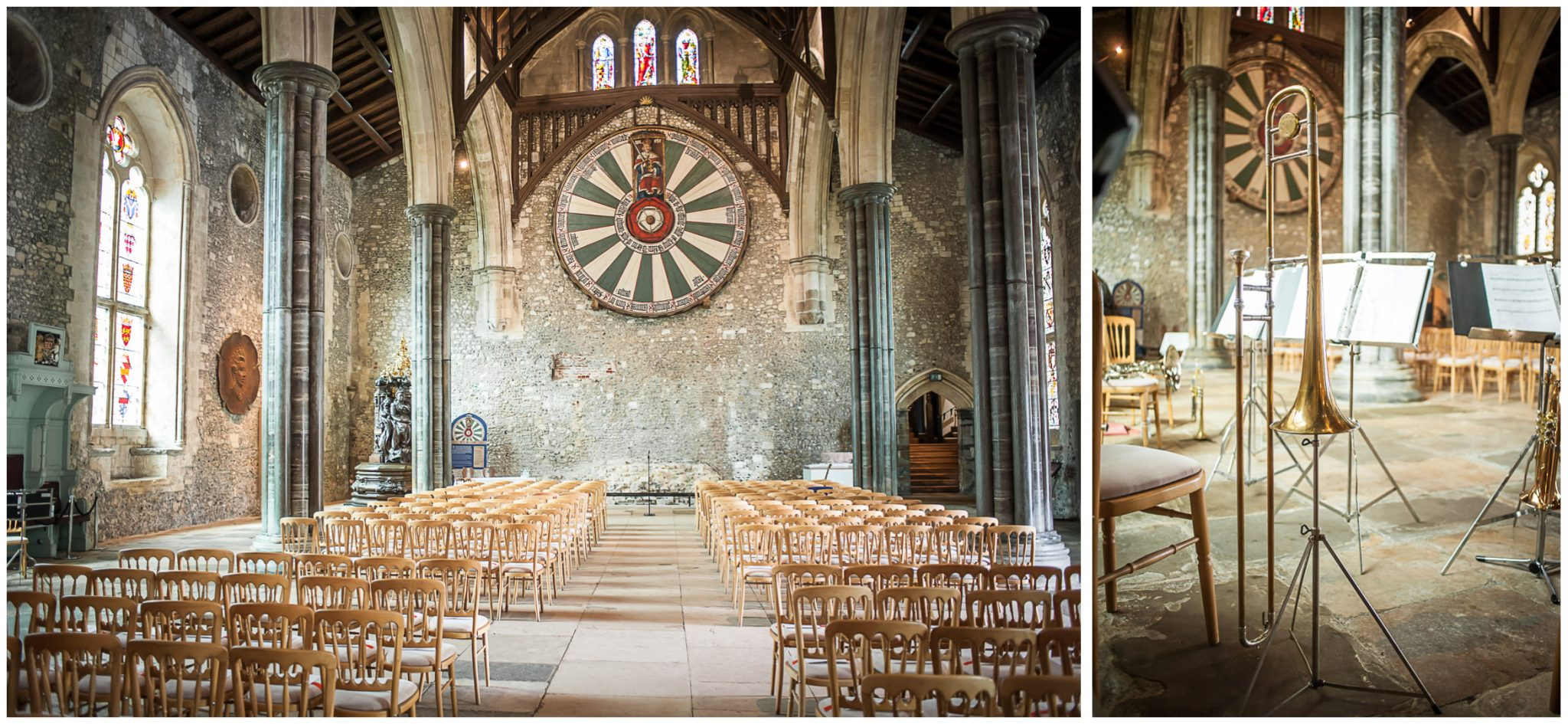 Winchester Great Hall wedding photography ceremony room interior
