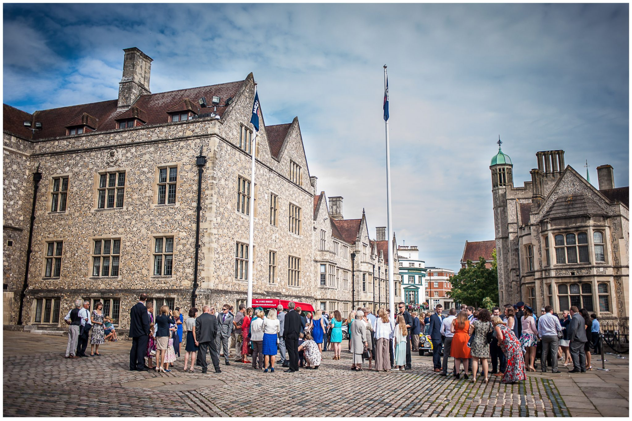 Winchester Great Hall wedding photography castle avenue view from venue