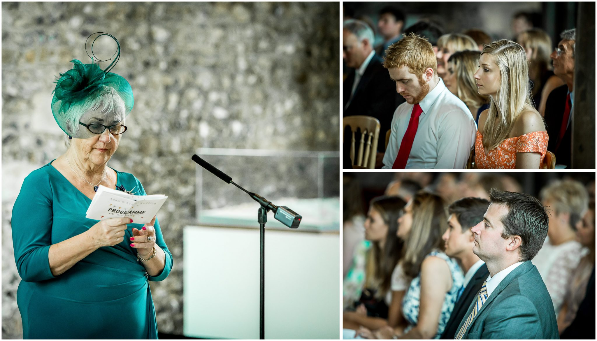 Winchester Great Hall wedding photography readings