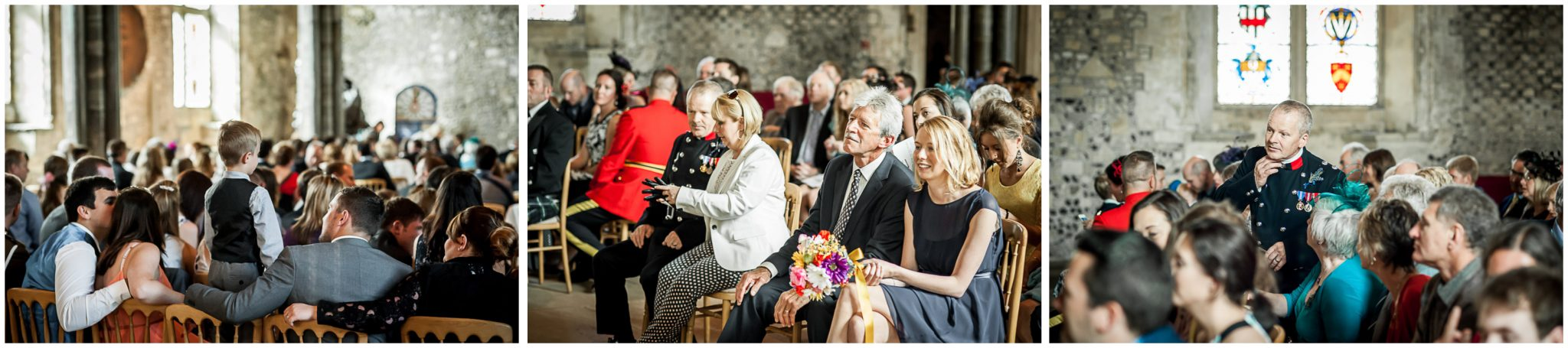 Winchester Great Hall wedding photography candid images of guests