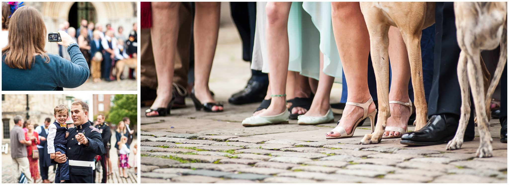 Winchester Great Hall wedding photography dogs as wedding guests