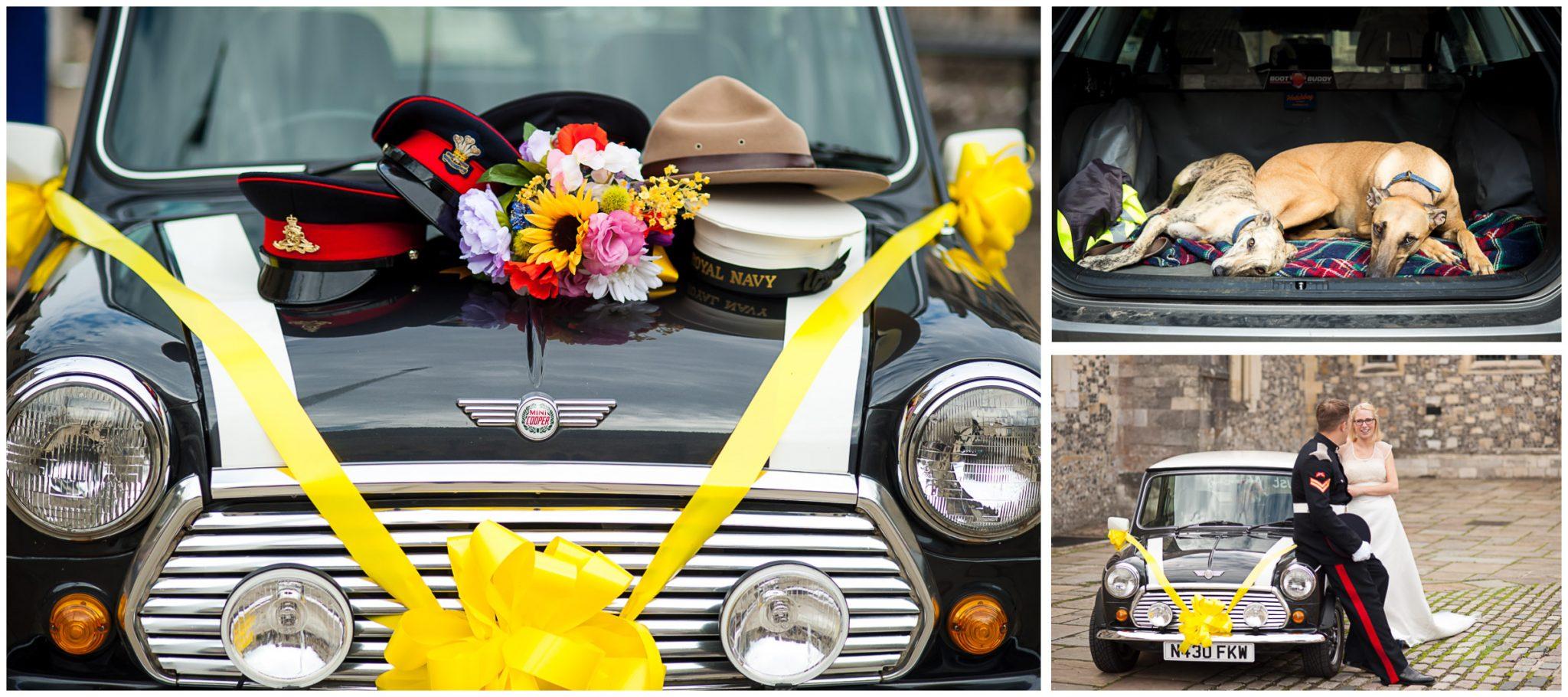 Winchester Great Hall wedding photography wedding car