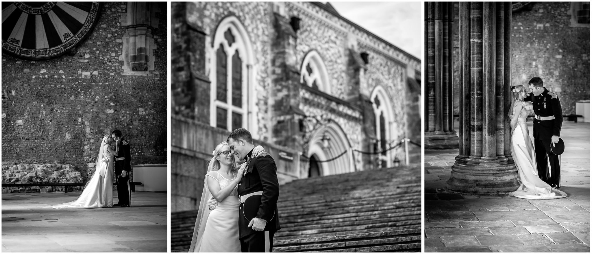 Winchester Great Hall wedding photography couple portraits black and white