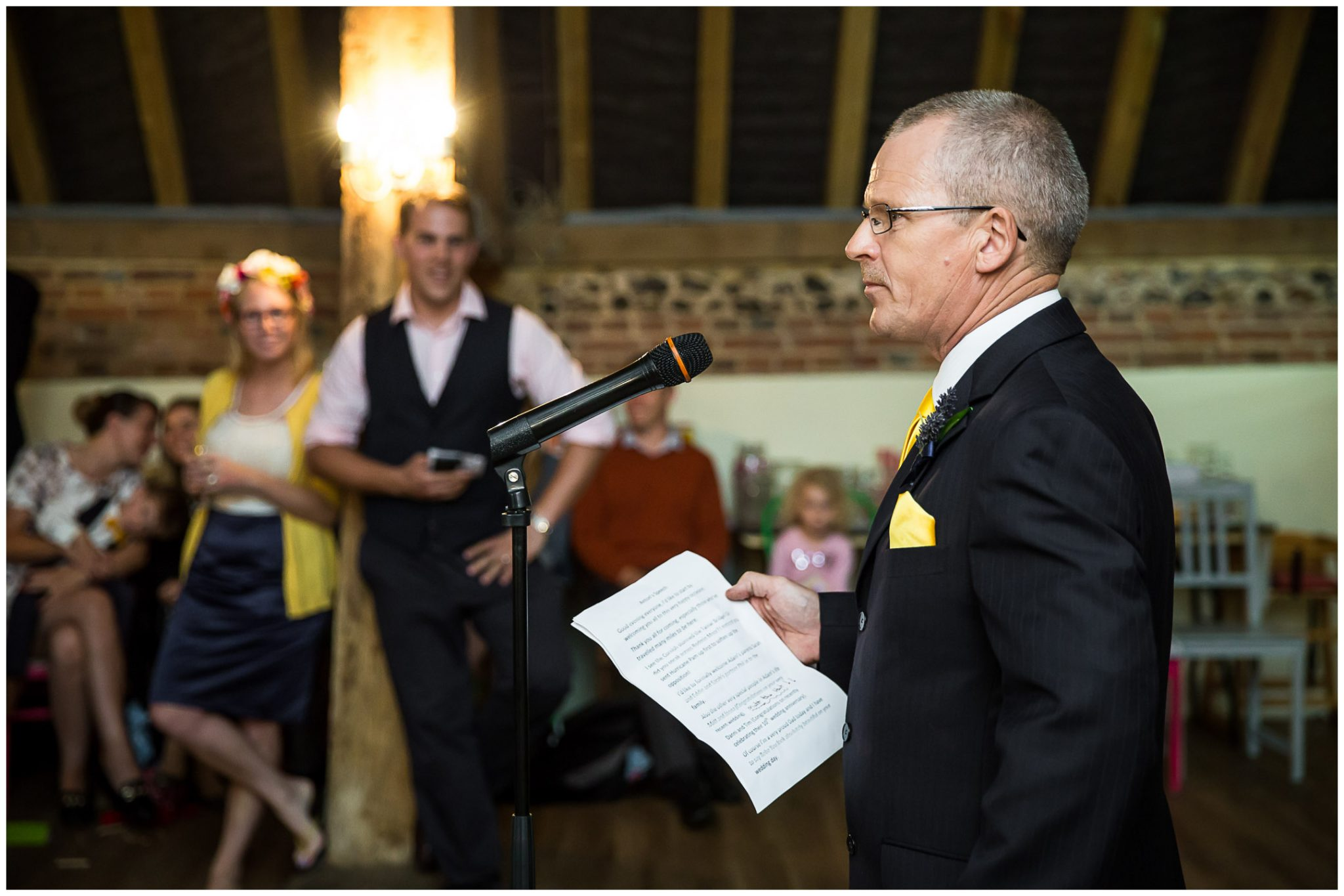 Winchester Great Hall wedding photography father of the bride speech