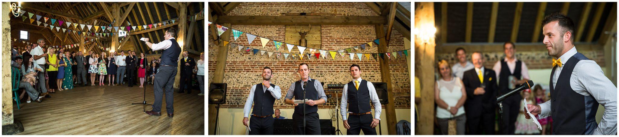 Winchester Great Hall wedding photography groomsmen speeches