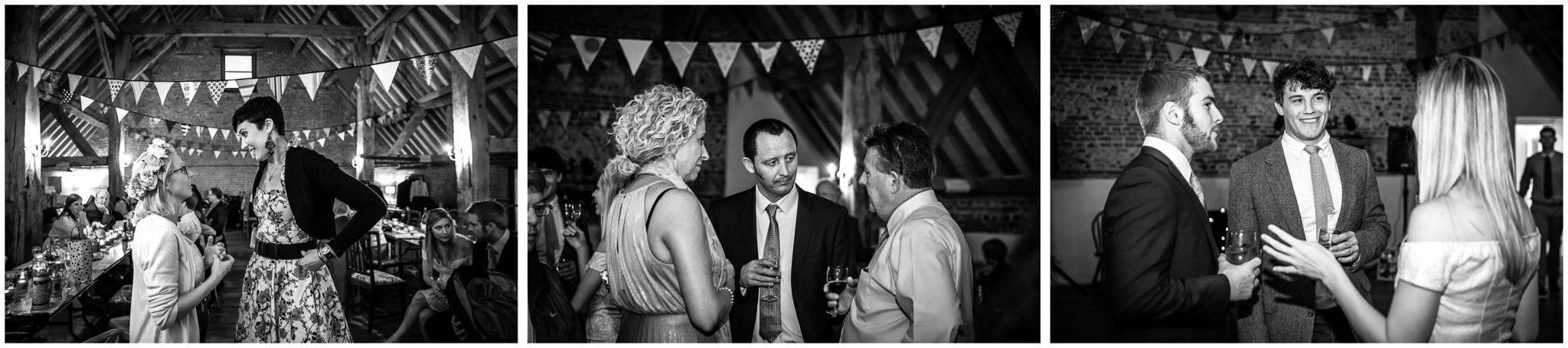 Winchester Great Hall wedding photography black and white guest photos