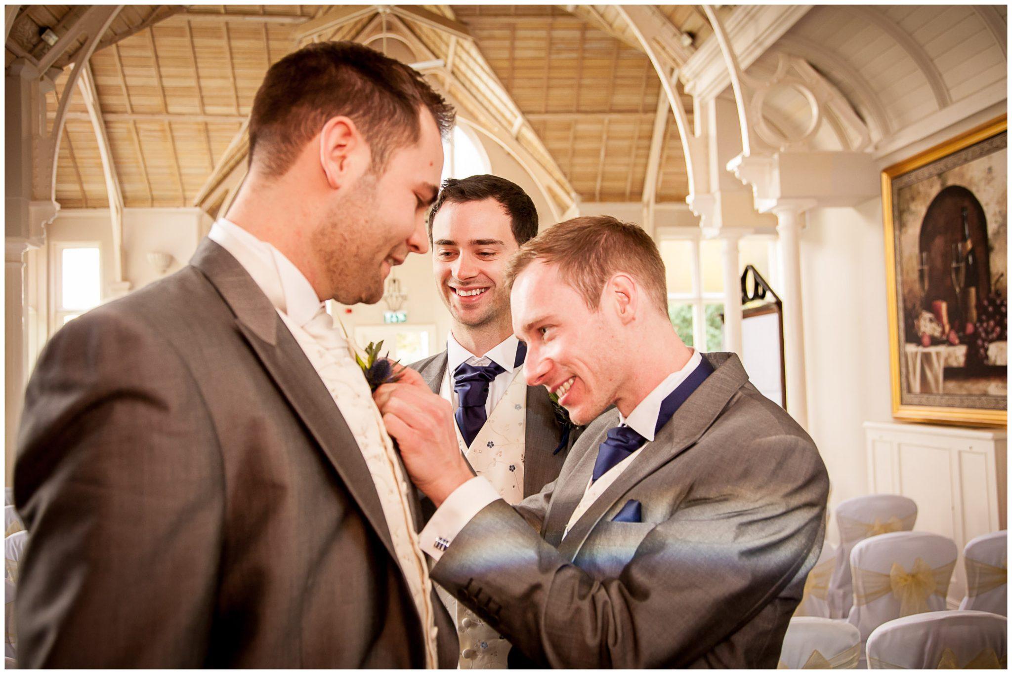 Audleys Wood wedding photography groom with ushers