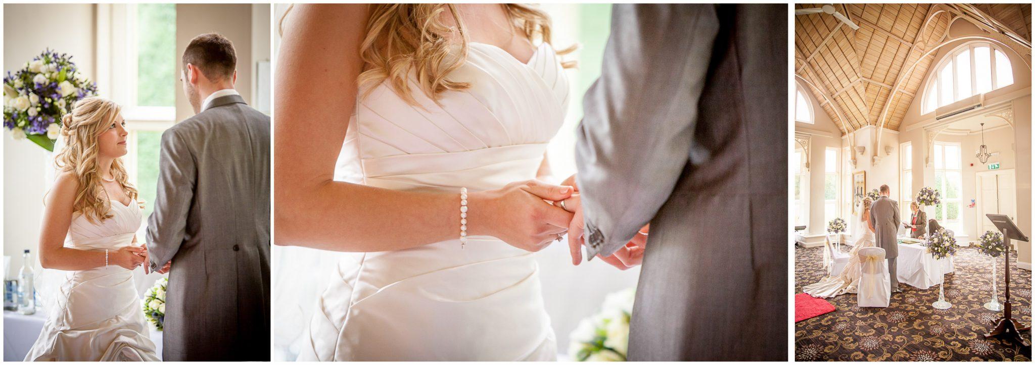 Audleys Wood wedding photography exchange of rings