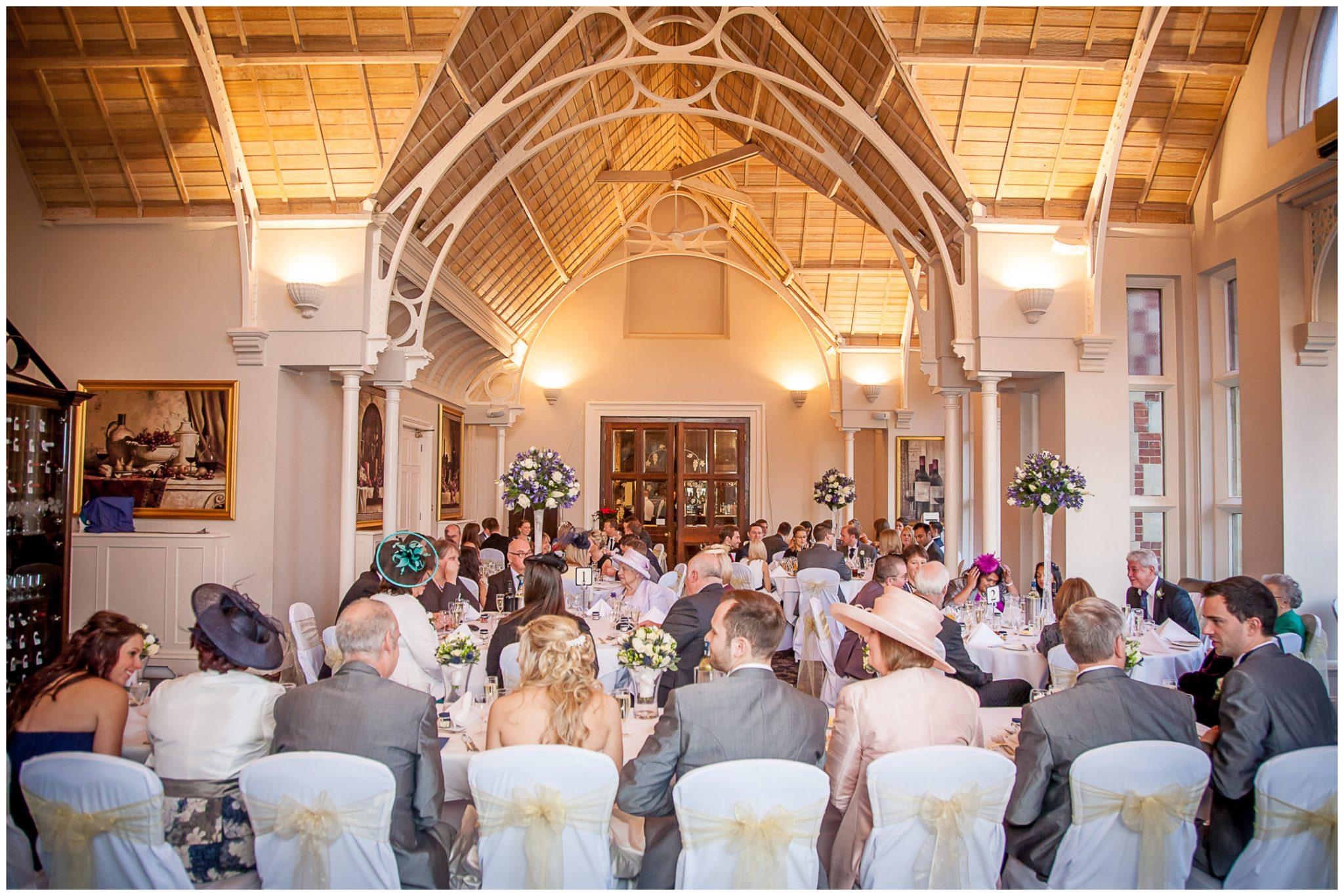 Audleys Wood wedding photography dining room wedding breakfast