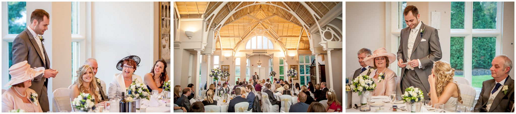 Audleys Wood wedding photography groom's speech