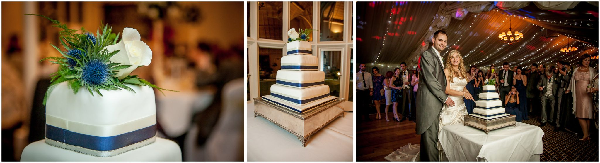 Audleys Wood wedding photography cutting the cake