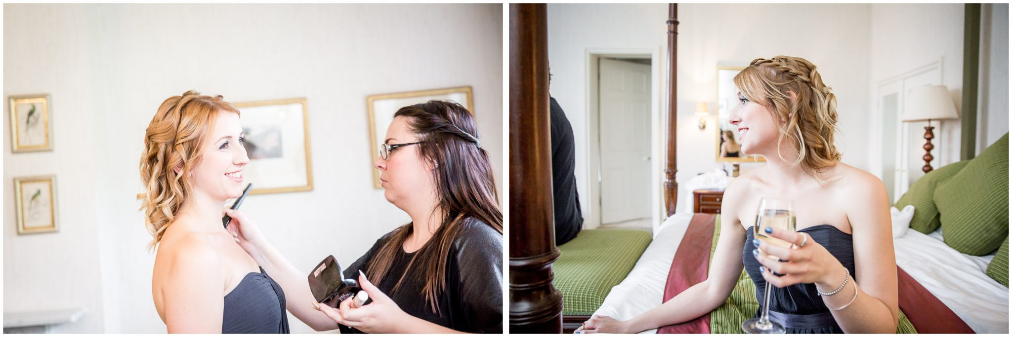 Audleys Wood wedding photograhy finishing touches during prep