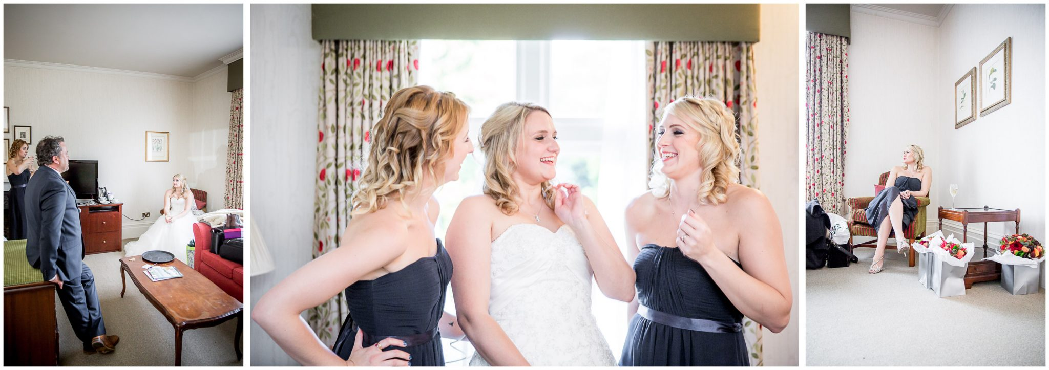 Audleys Wood wedding photograhy bride with bridesmaids before ceremony