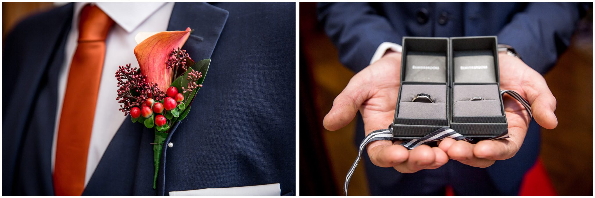 Audleys Wood wedding photograhy rings and buttonhole