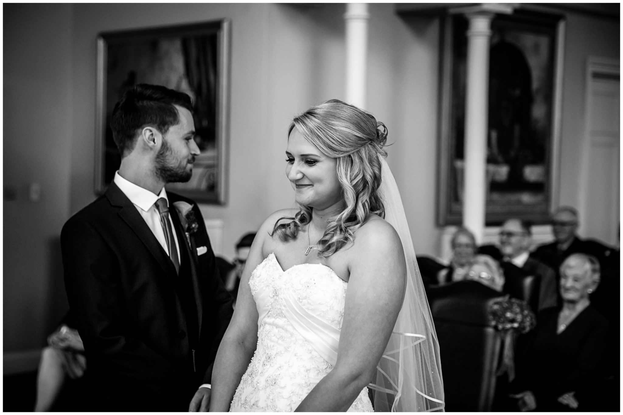 Audleys Wood wedding photograhy black and white bride and groom portrait