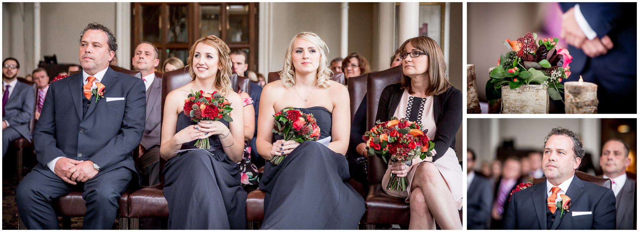 Audleys Wood wedding photograhy wedding party takes their seats
