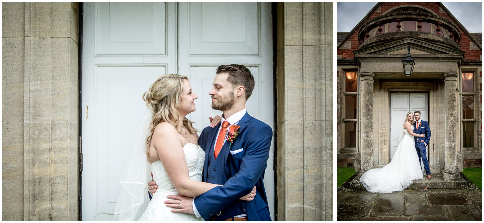 Audleys Wood wedding photograhy couple portraits outside rear door