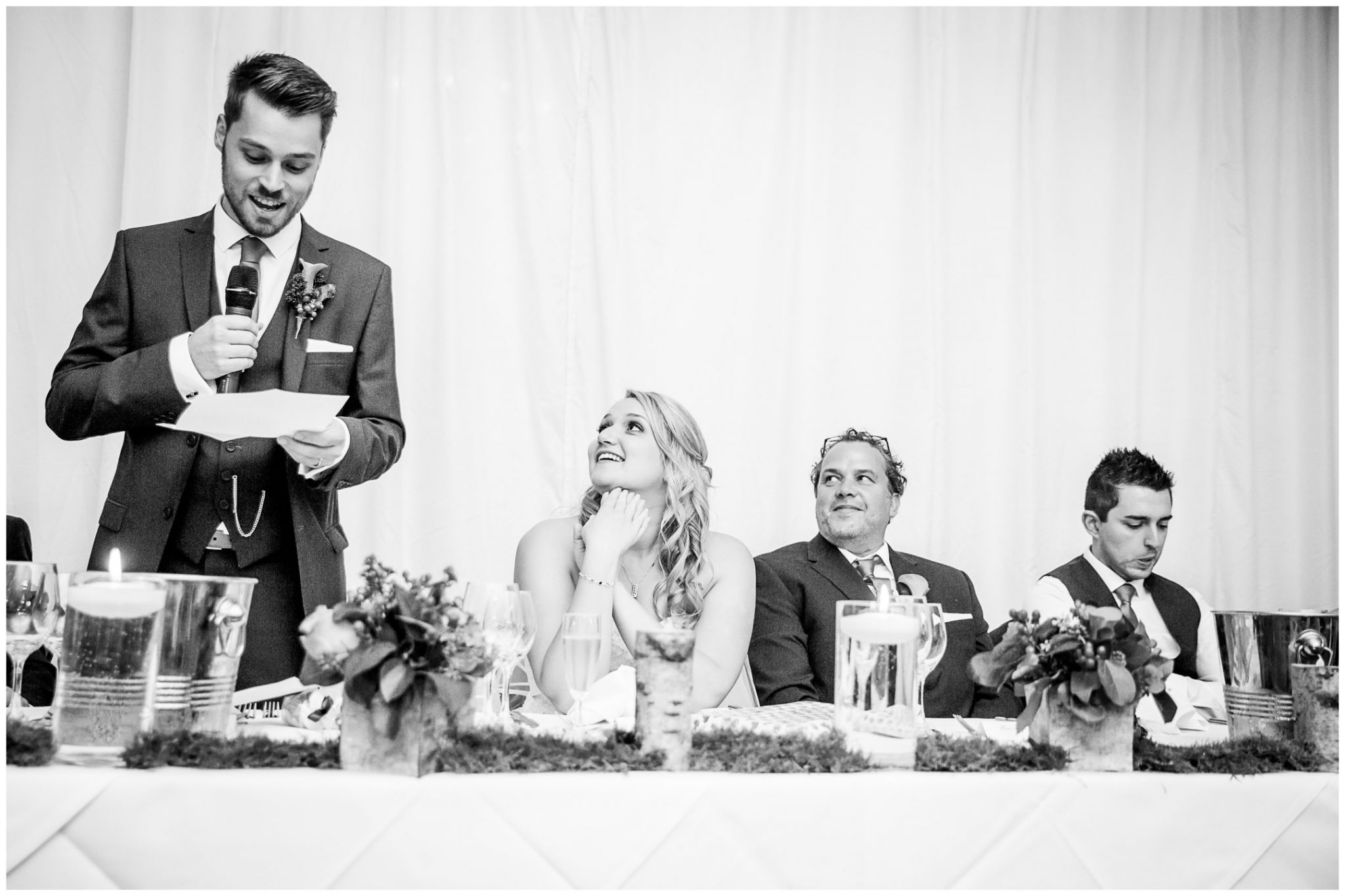 Audleys Wood wedding photograhy groom's speech