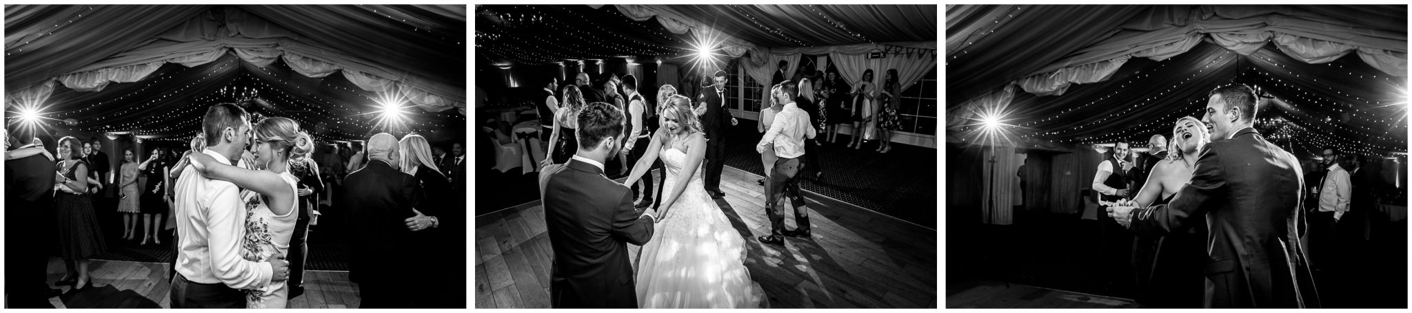 Audleys Wood wedding photograhy guests on dancefloor