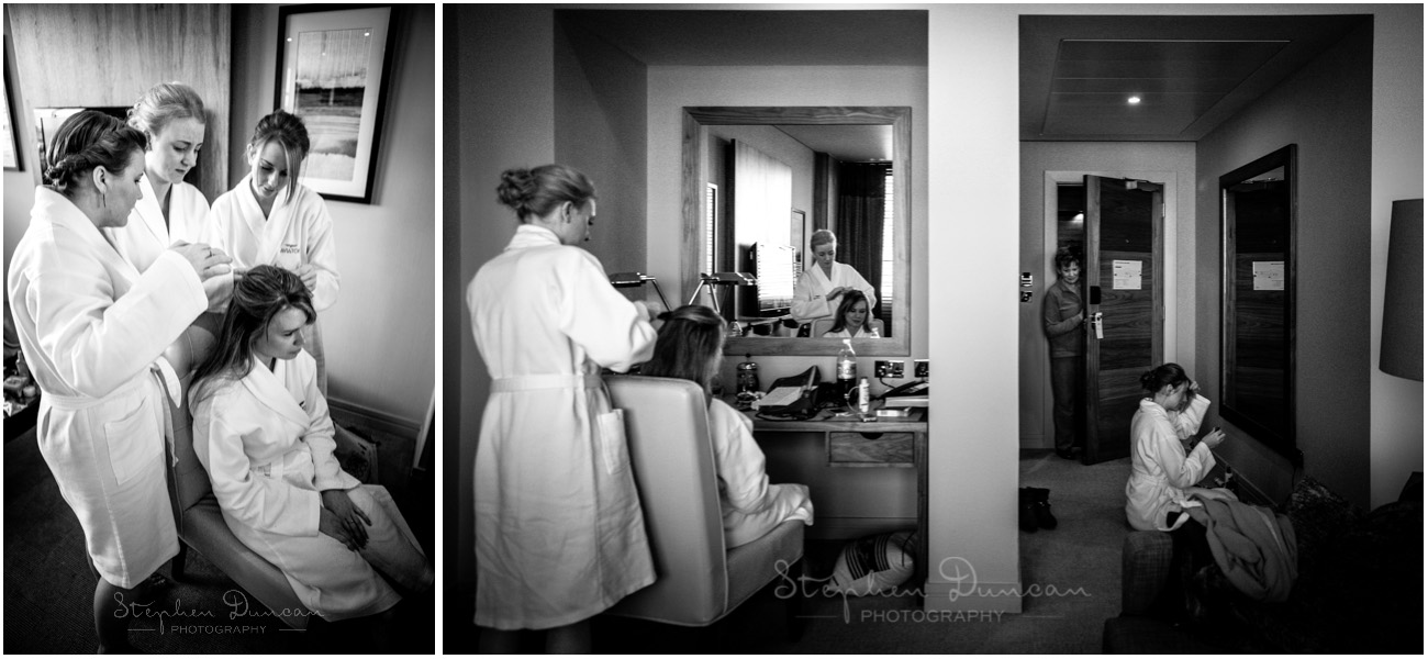 The Aviator wedding photography bridal prep