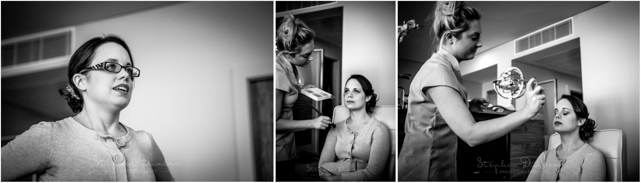 The Aviator wedding photography bride getting ready